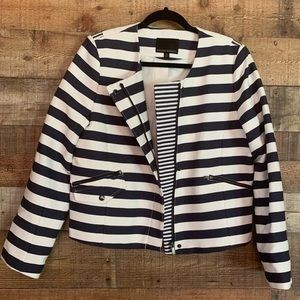 Banana Republic navy/white striped blazer, sz 12